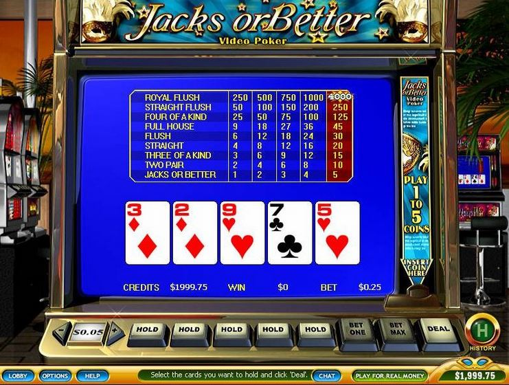 video poker regeln
